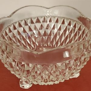 Indiana Glass diamond point candy dish